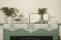 Country Chic Heirloom Mantle Scarf By Heritage Lace, Choose Ecru Or White, 20x91