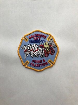 Engine 51 MD Pride /& Tradition old patch Baltimore City Fire Dept