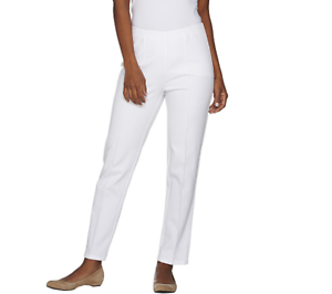 Isaac Mizrahi Live  Tall 24 7 Stretch Ankle Pants w  Seam Detail  White Tall 8