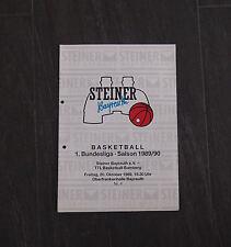Steiner Bayreuth Basketball 1.Bundesliga Stadionheft 1989 / 1990 TTL Bamberg