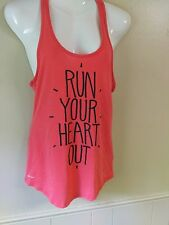 Womens Nike Graphic Tank Top Dri-Fit Tee Racerback Pink 🏃 Running Size MED