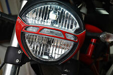 DUCATI Monster 696 795 796 1100EVO Front Light Trim RED Pad Protector decal