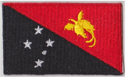 Small Papua New Guinea Flag Iron On Patch 2.5 x 1.5 inch Free Shipping