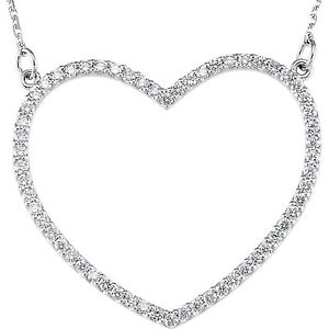 25a342a9d86 Diamond Heart Necklace .25 Ct TDW 14K White Gold 16