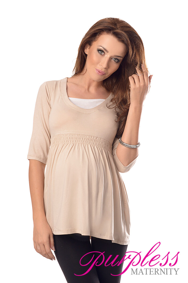 Merveilleux top tunique de 12 maternité vêtements de grossesse taille 8 10 12 de 14 16 18 5200 b1b403