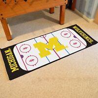 Michigan Wolverines 30 X 72 Hockey Rink Runner Area Rug Floor Mat