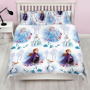 Disney-Frozen-2-Element-Set-Housse-de-Couette-Double-Reversible-Literie-Enfants