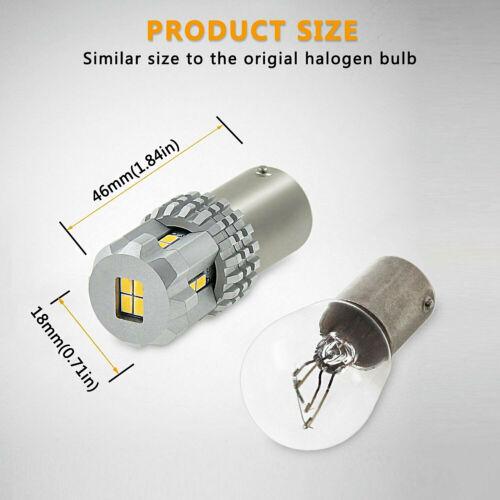 Pair Bulbs 30W P21W Ba15s Reverse Bright LED White Mercedes ML Class W164 05-11