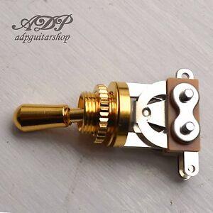 Bouton de selecteur//Toggle Switchcraft pour Gibson CAP Brass Nickel