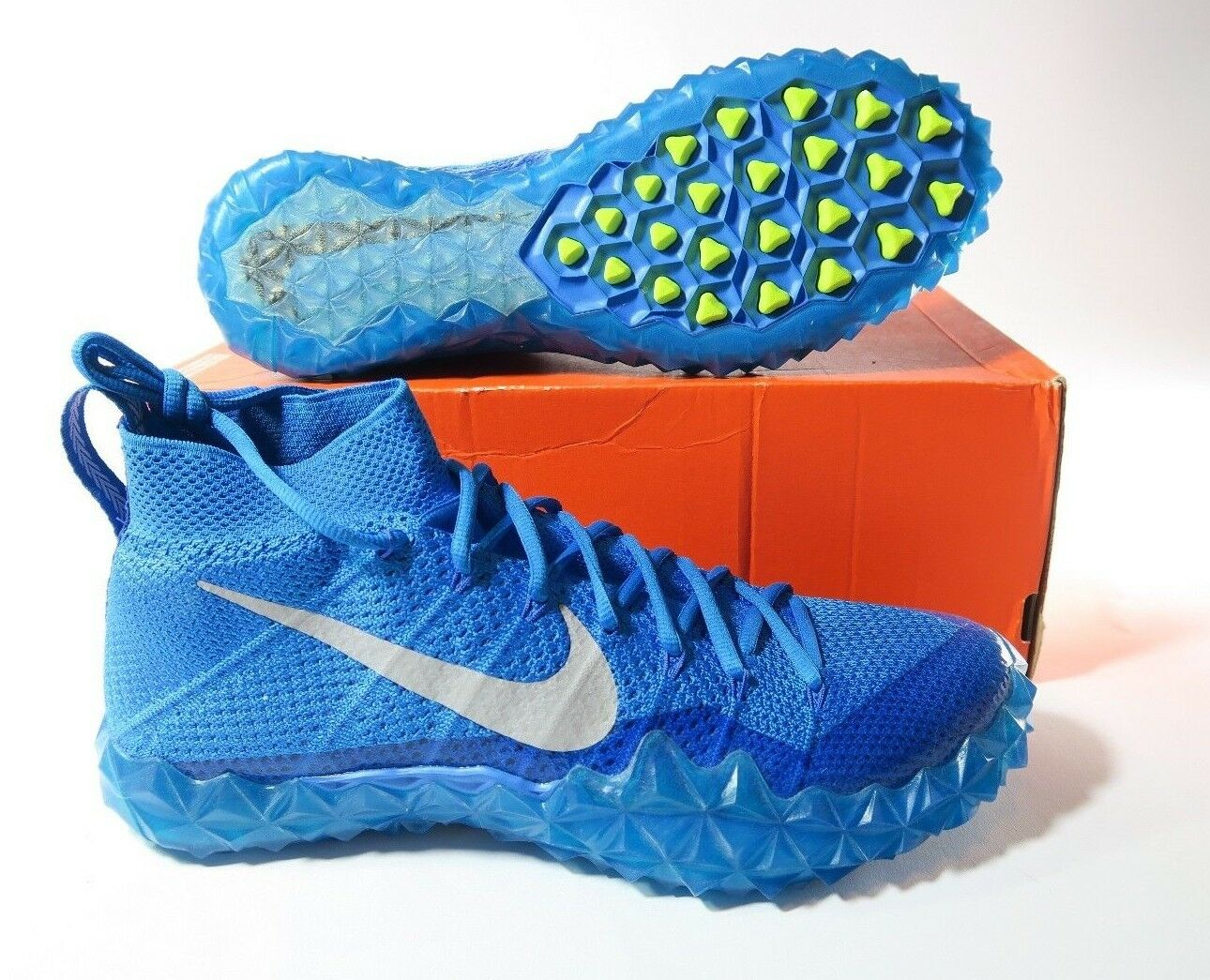 New Mens Nike Alpha Sensory Football Turf Shoes Blue Comfortable  Casual wild