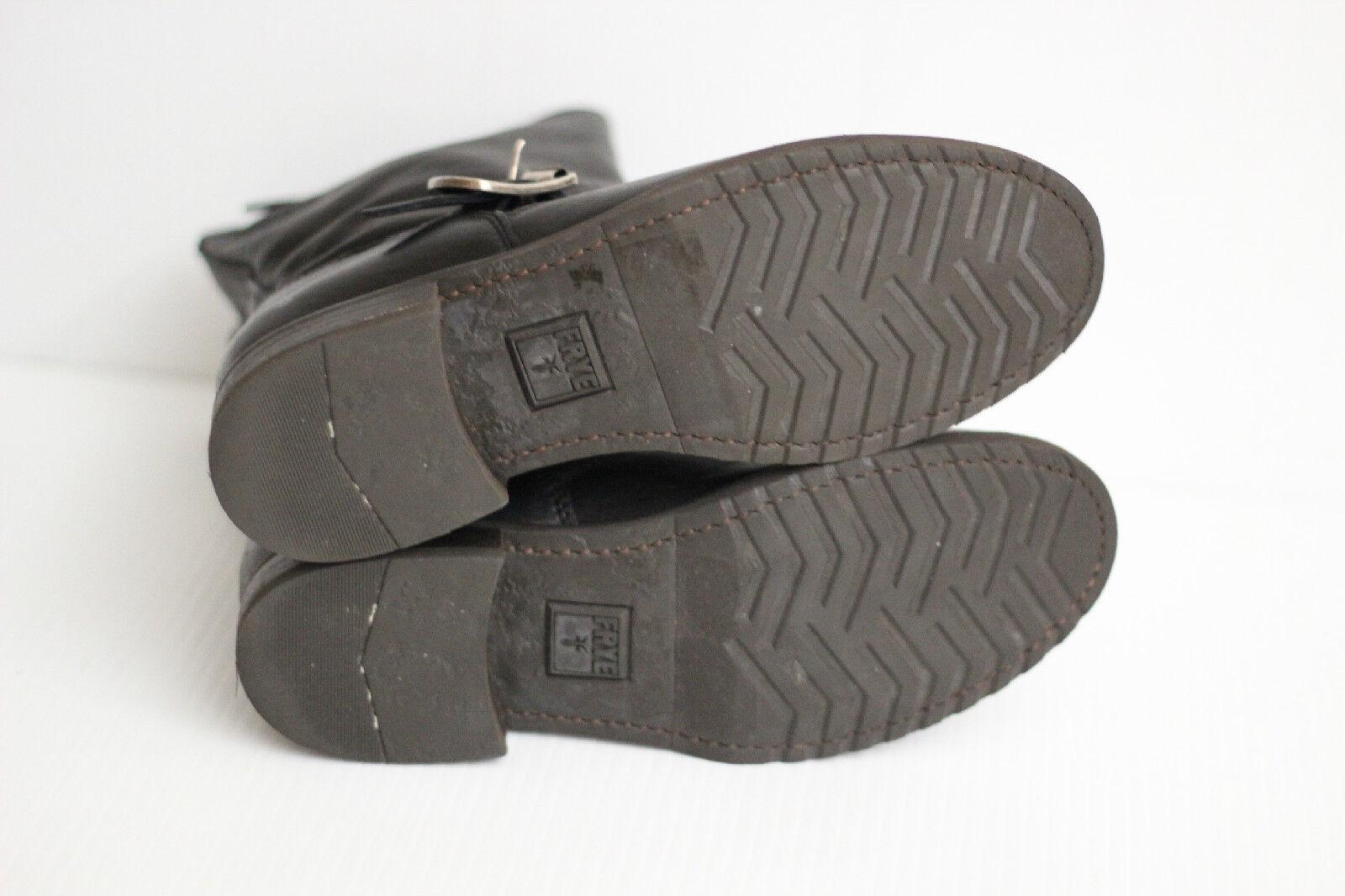 Frye 'Veronica' Short Moto Biker Leather Boot - Black - - - Size 6 B (Y36) 1d1879