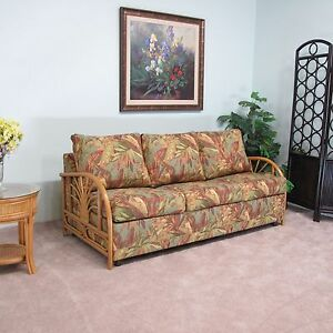 Sundance rattan queen sofa sleeper contract quality made for Antigua wicker chaise