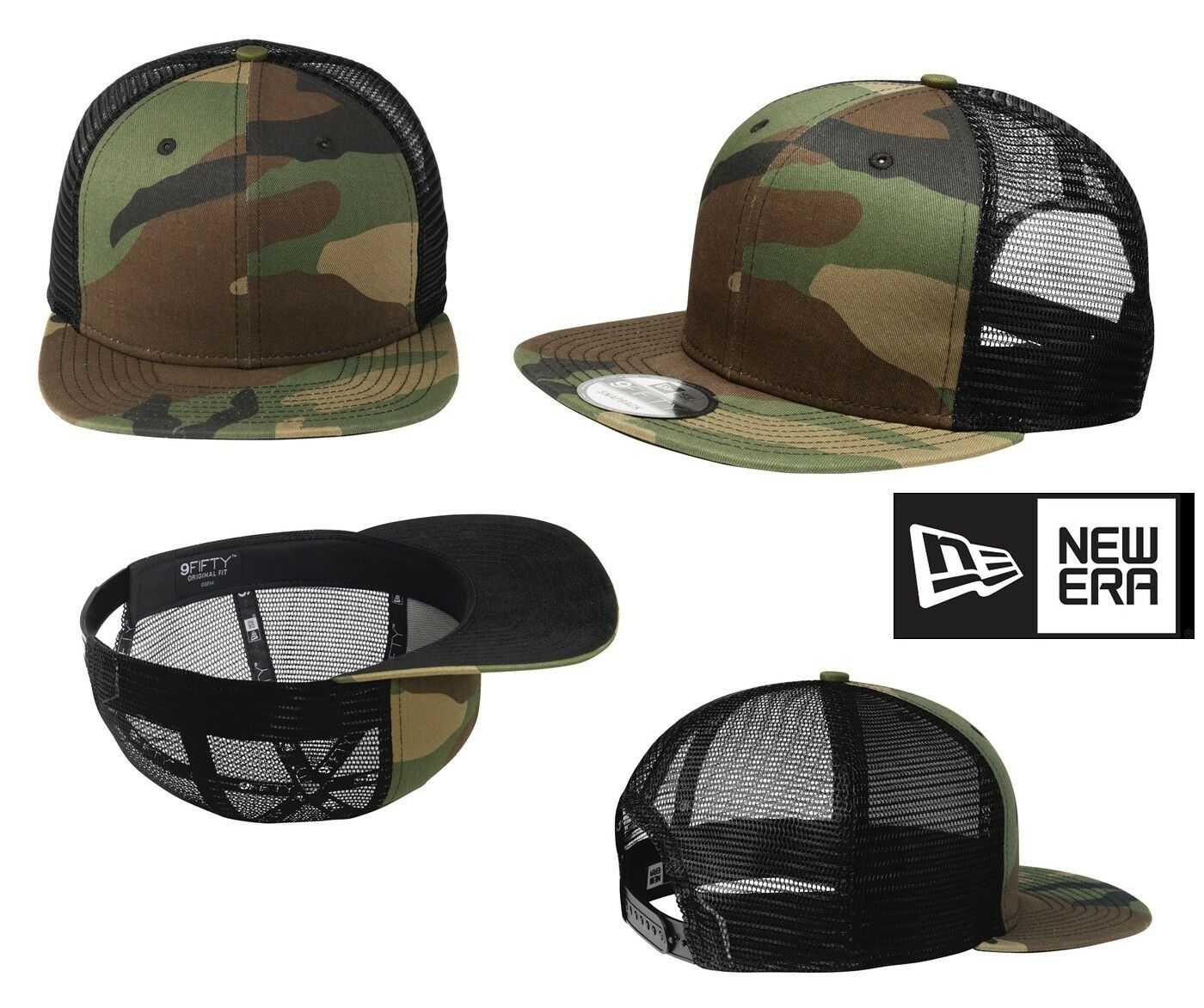 MEN'S NEW ERA CAMOUFLAGE ORIGINAL FIT 9FIFTY TRUCKERS CAP CAMO CAMOUFLAGE ERA HIGH PROFILE 4747dd