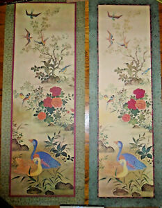 VINTAGE-1963-LITHOGRAPH-BIRDS-LOT-OF-2