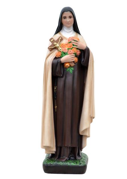 Saint Therese Of Lisieux Resin Statue Cm. 62 Per Cancellare Il Fastidio E Per Estinguere La Sete