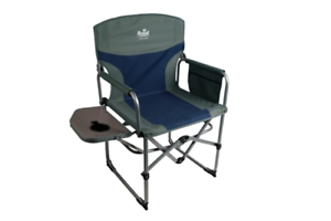 Royal Compact Directors Chairs Steel Framed Robust Chair bluee fisherman