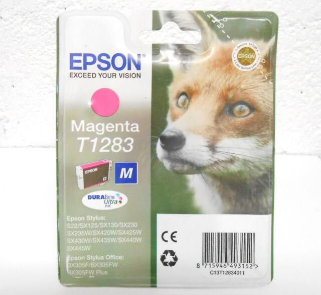 ink cartridge Original Origin EPSON T1283 FOX Magenta 06/2015 Genuine