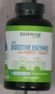 Zenwise Health Daily Digestive Enzymes With Prebiotics Probiotics 180, EXP 10/21