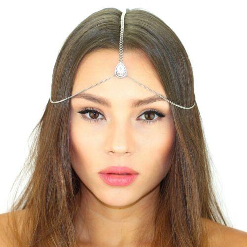 Kristin Perry Crystal Bridal Dainty Chain Headpiece Maang Tikka Hair Piece