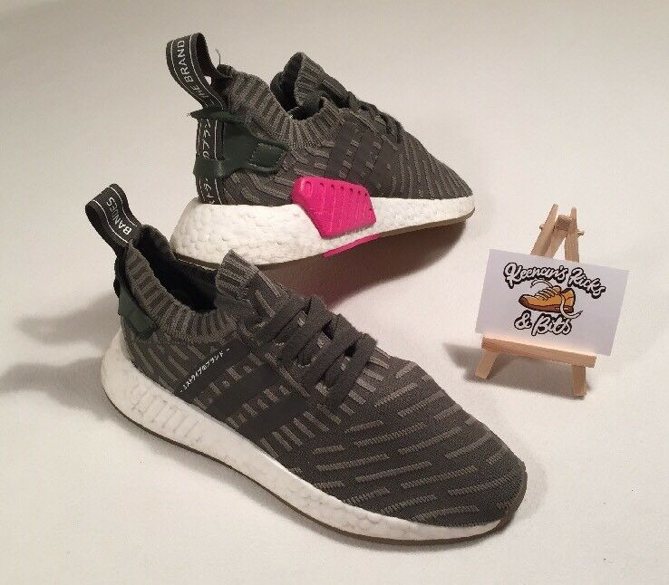 Womens ADIDAS NMD R2 PRIMEKNIT BOOST BOOST BOOST Running Trainers UK 5.5 'RARE GYM FITNESS' 513dbd