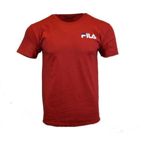 FILA Mens T Shirt S M L XL 2XL Logo Sports Athletic Wear Apparel Tee Red NEW
