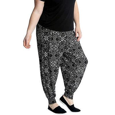 Nouveau Aux femmes Harem Pantalon marocain Tuile Impression Cuffed Nouvelle