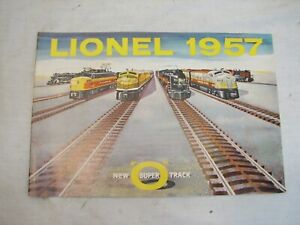 Lionel Toy Train Model Railroad Catalog 1957 RR O Gauge Layout