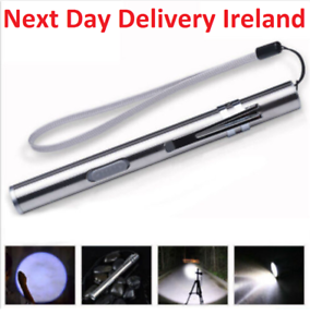 Pocket-Tactical-Flashlight-Torch-LED-Pen-T6-USB-Rechargeable-Light-Work
