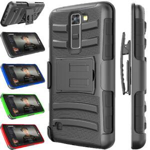 timeless design 808d8 ebe3e For LG Premier LTE/L62VL Phone Case Swivel Belt Clip Hybrid Rugged ...