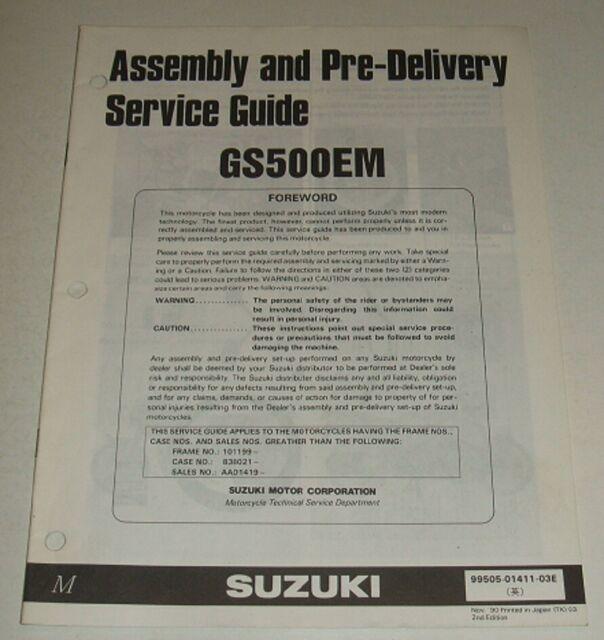 1991 Suzuki Gs500e Gs500 Gs 500 500e Pre