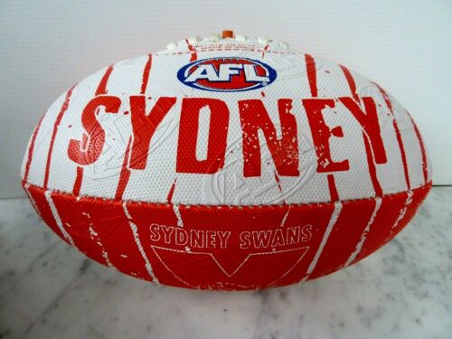 "AFL SYDNEY SWANS ""NEW DESIGN"" SIZE 2 SYNTHETIC M FOOTBALL BRAND NEW"