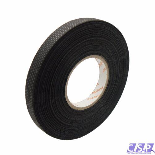 3x Tape Klebeband Vlies Rolle 25m x 9mm Gewebeband 105°C KFZ Auto 0,087€//m