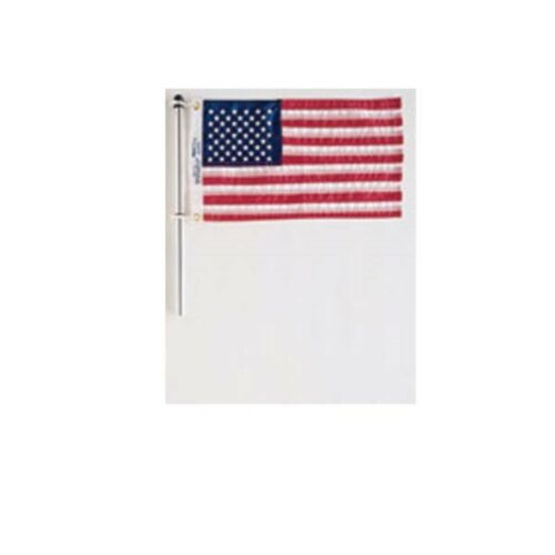 Flag Pole with Charlevoix Flag Clips36 Inch Flag Staff