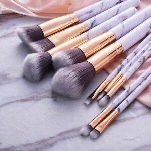 10pcs-Marbling-Kabuki-Professional-Make-up-Brush-Set-Brushes-Powder-Blusher