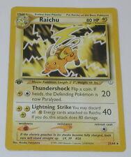 Pokemon Raichu 1st Edition Neo Revelation Card R10019