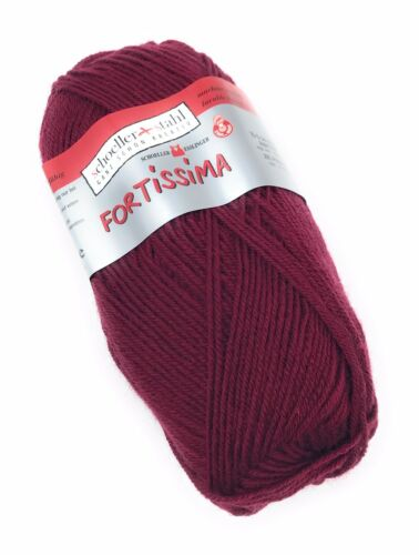 4-fädige Sockenwolle 50 gr Schoeller+Stahl Fortissima uni 5,98 EUR//100 g