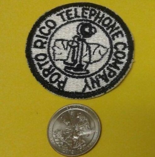 Vintage Logo PORTO RICO TELEPHONE COMPANY Puerto Rico 1930 Embroidered Patch