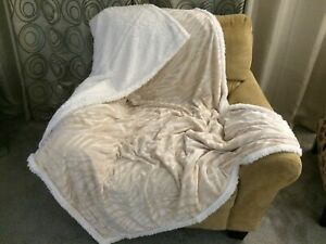 Fabulous Details About Beige Faux Zebra Fur Embossed Pattern Accent Throw Blanket Bed Sofa Chair Decor Cjindustries Chair Design For Home Cjindustriesco