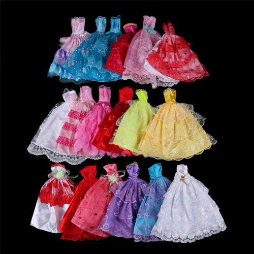 Mix Handmade Doll Dress  Doll Wedding Party Bridal Princess Gown Clothes SLFDCA