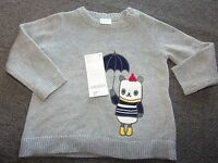 Gymboree Gray Panda Boys Sweater 12 - 18 Mos $32.95