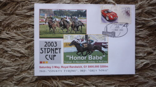 AUSTRALIAN HORSE RACING COVER, 2003 SYDNEY CUP, WINNER HONOR BABE