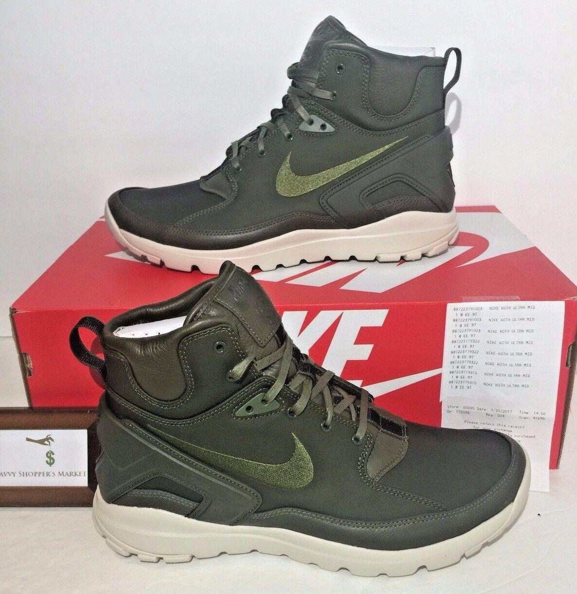 Nike Uomo sz metà 10 nikelab koth ultra metà sz e stone island esercito gli stivali verdi borsa 326bfc