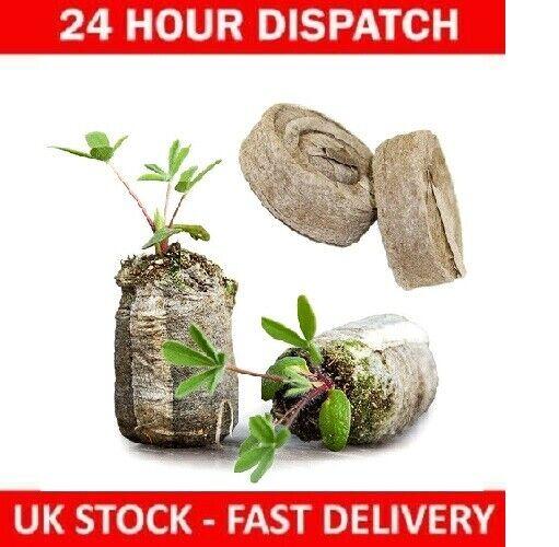 33mm Jiffy Peat Coir Plug Pellets Seed Starting Propagation & Germination Plant