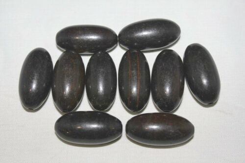 Various shapes Hand Crafted Genuine Ebony Beads Packing of 15-29 Beads