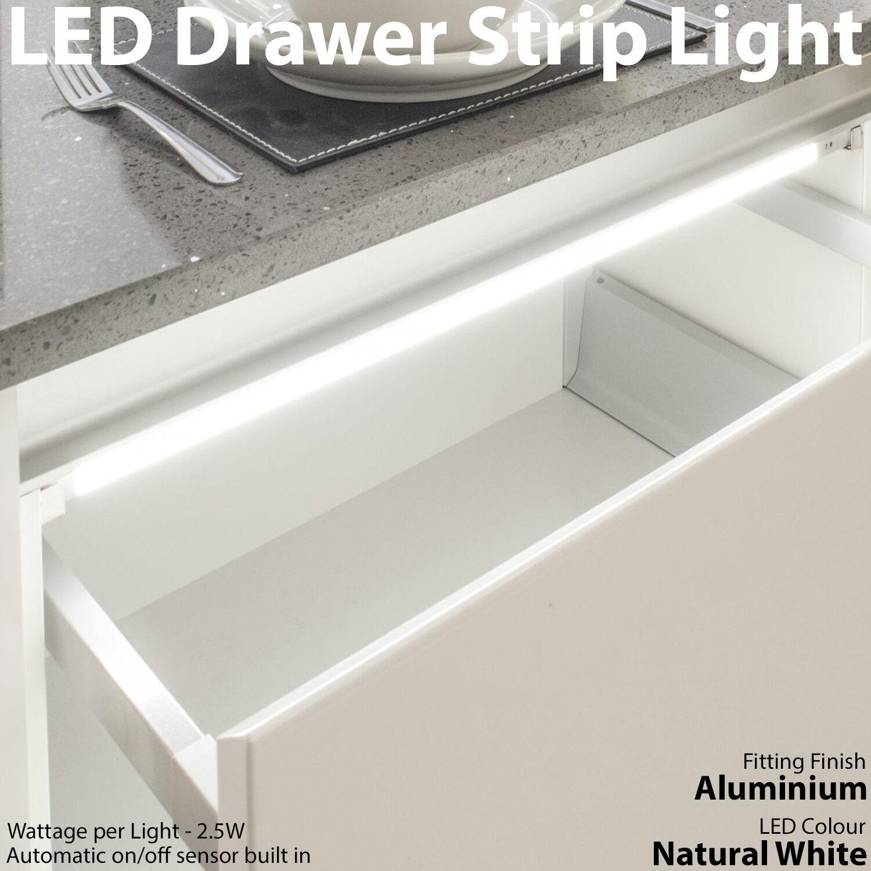 2x 400 mm DEL tiroir bande de lumière – Auto d'armoire On/Off capteur PIR de – Cuisine Porte d'armoire Auto 4be058