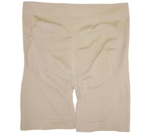 3 SAFETY SHORTS SEAMLESS HIGH WAIST NUDE BEIGE FRONT AND BACK SUPPORT FOR WOMEN