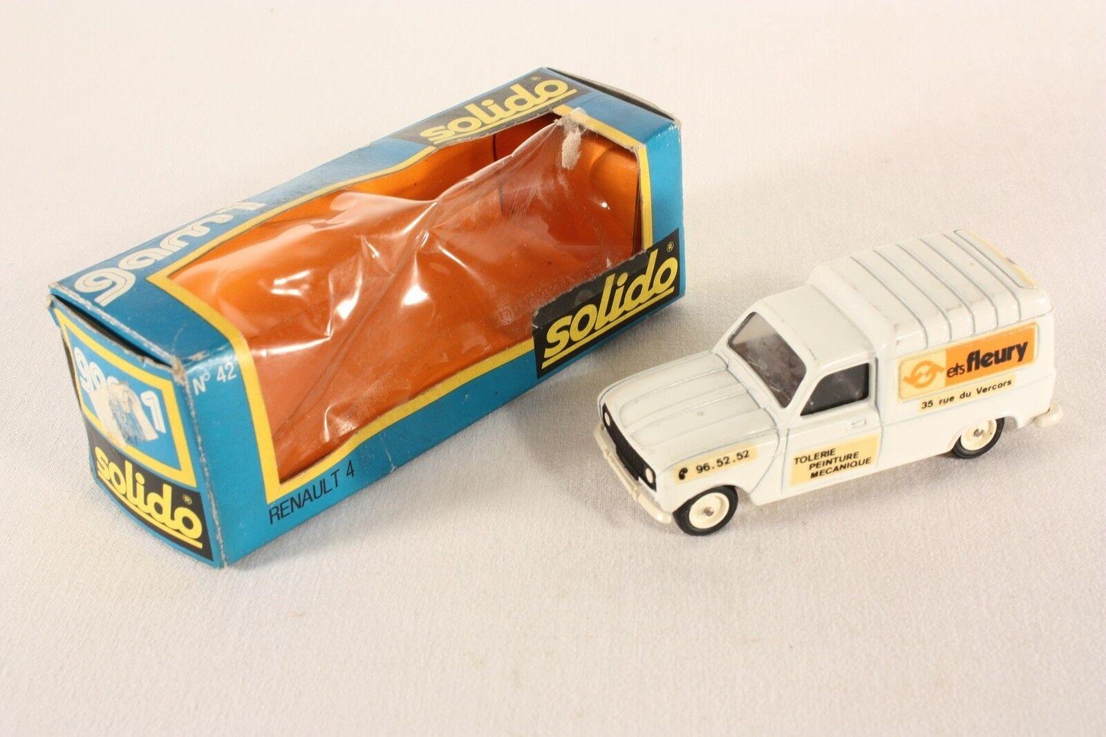 Solido 42, renault 4, 4, 4, ETS Fleury, Promotional-model, Mint en Box  ab692 891ea4
