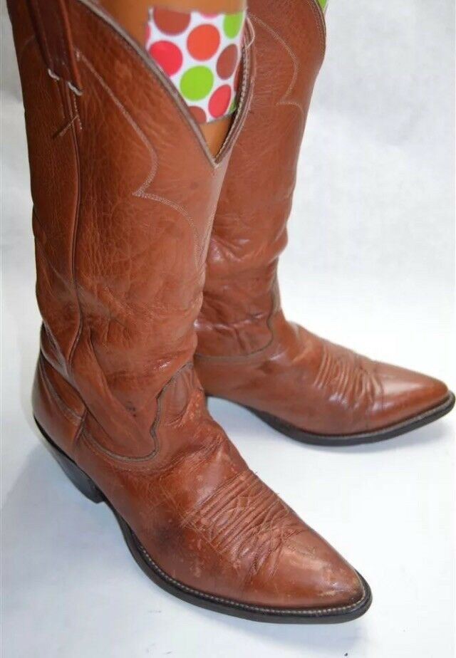 Nocona Brown Leather 7.5 A Women's Cowgirl Western Boots