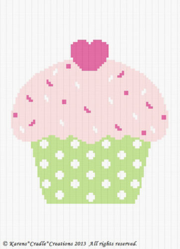 Crochet Pattern CUTE AS A CUPCAKE Color Graph//Chart Baby Afghan Pattern