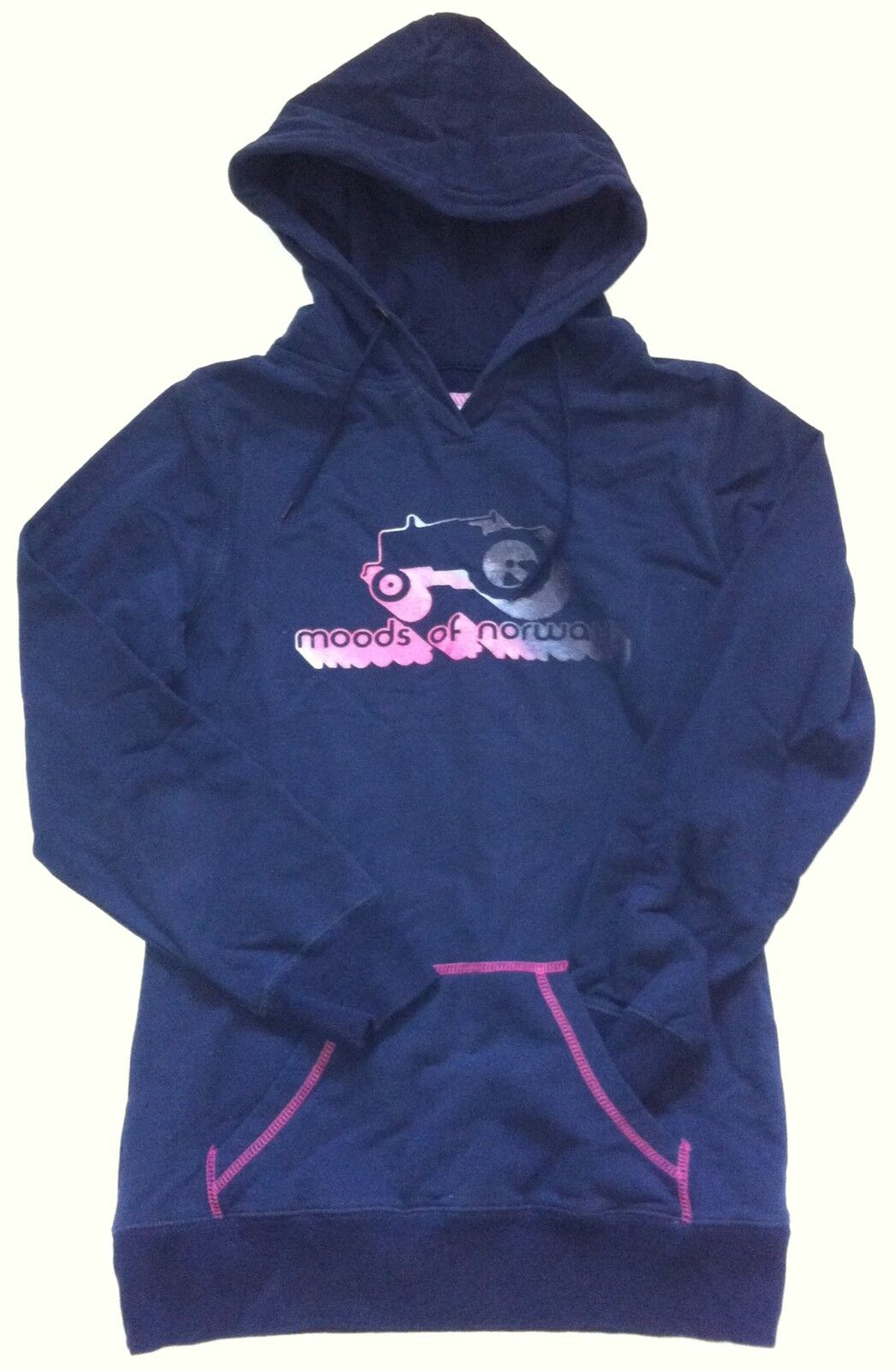 BNWT Moods Of Norway Women's Heidi Fleece Hoodie Sz L Navy bluee